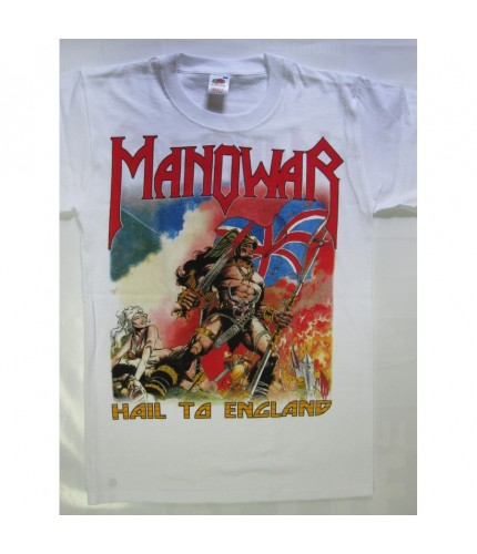 Manowar – Hail To England White T-shirt