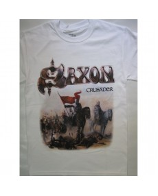 Saxon – Crusader White T-shirt