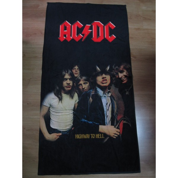 Ac Dc Highway To Hell Beach Towel