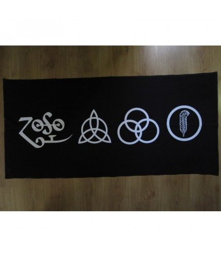 Led Zeppelin  - The four symbols Black Beach Towel