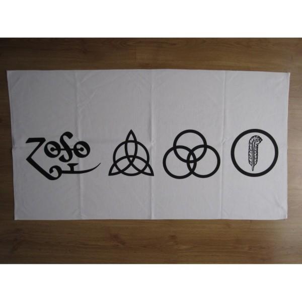 Led Zeppelin The Four Symbols White Beach Towel