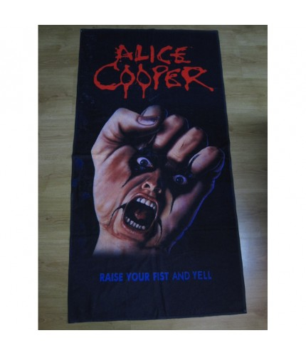 Alice Cooper -  Raise Your Fist and Yell Beach Towel