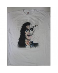 Alice Cooper -  Raise Your Fist and Yell Tour '87-'88 White  T-shirt