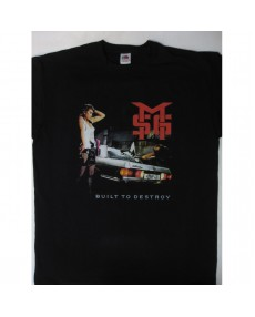 Michael Schenker Group - Built to Destroy World Tour '84  T-shirt Tour T-shirt