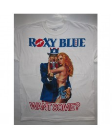 Roxy Blue – Want Some White T-shirt