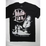 White Lion – Fight to Survive Very Rare T-shirt