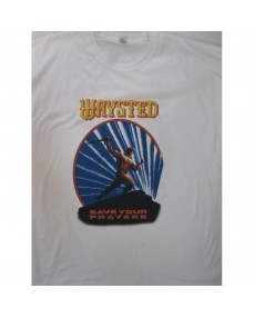 Waysted ‎– Save Your Prayers Tour White T-shirt